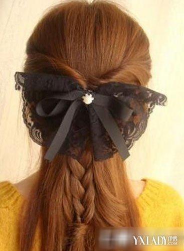 【图】发型公主扎法教你发型头直发长发扎法最简单彩带编发图片