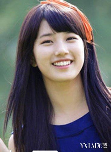 【图】圆脸女生适合的长直发发型图片 清纯迷
