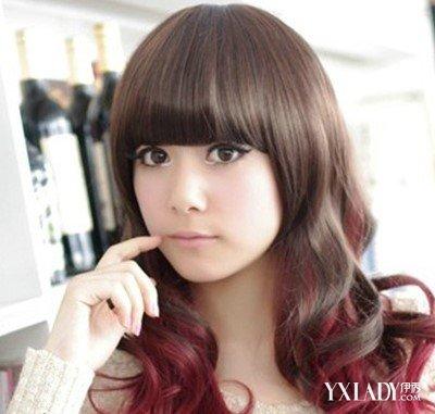 【图】酒红色头发图片 秋冬酒红染色发型 减龄显嫰衬肤色图片