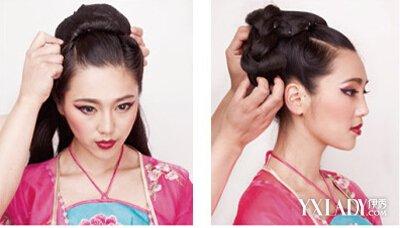 发型 流行发型 正文   step3:在头顶上固定一个假的发包.图片