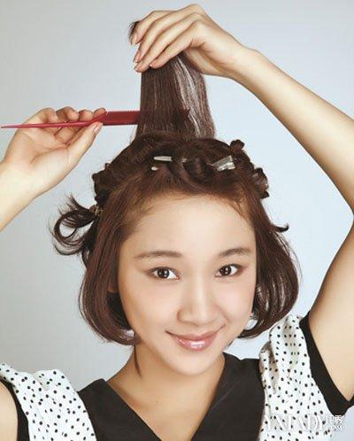 可爱女生短发发型 短发发箍怎么带好看图片
