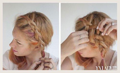 【图】快乐大本营最新一期谢娜荷兰侧编发发型教程图片