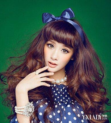 中长发可爱芭比烫发型图片 最新烫发发型图片图片