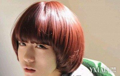 男生齐刘海蘑菇头发型图片