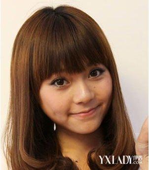 6款齐刘海齐肩发型 梨花头齐刘海甜美过冬季图片