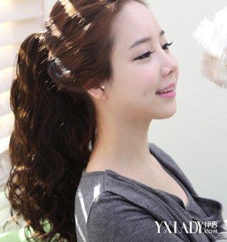 中长发的发型造型 中长发蛋卷头发型 韩国流行发型精选图片
