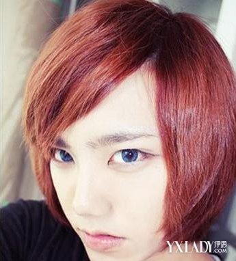 阳光又帅气的男生波波头,波波头直发,斜刘海,黄白感的金色头发,超帅图片