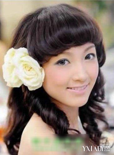 【图】最美带刘海新娘发型图片图片