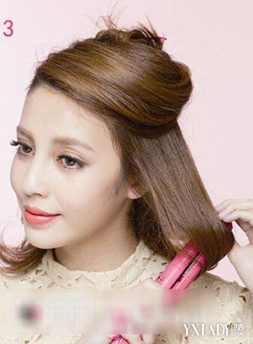 【图】中长发发型diy 卷发器简单打造清新复古发型