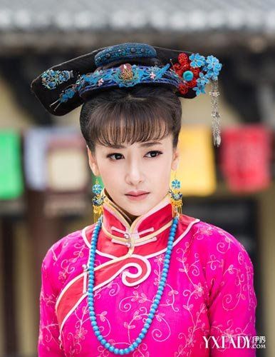 清朝漂亮女子发型梳法(5)图片