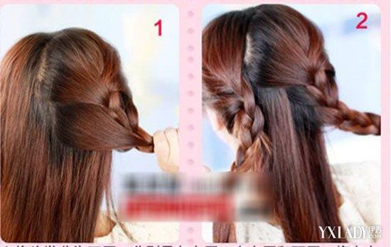 【图】中长直发发型扎法 简单清纯中长直发扎发图解教程