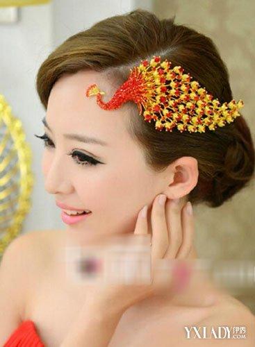 【图】中式新娘妆发型图片 经典发饰成点睛之笔图片