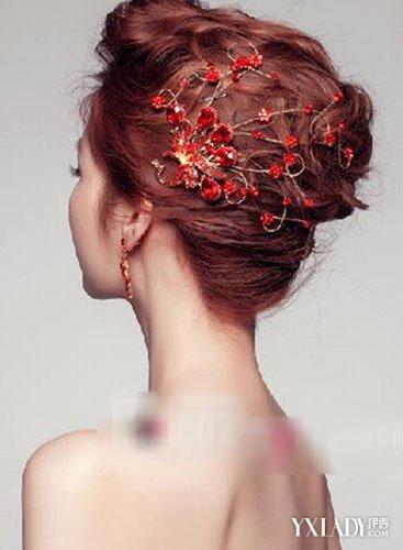 【图】中式新娘妆发型图片 经典发饰成点睛之笔