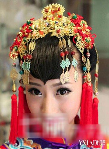 【图】中式新娘妆发型图片