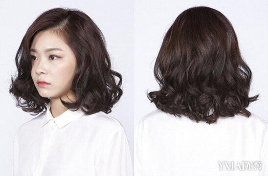发型图片女 2018韩式中长发发型 烫卷更显迷人气质图片