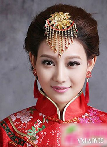 【图】最美中式新娘妆发型图片
