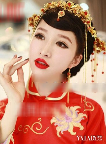 美中式新娘妆发型 端庄典雅高贵大气图片