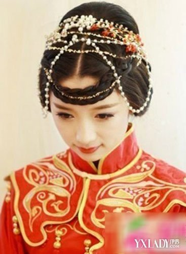 【图】最美中式新娘妆发型 (367x500)
