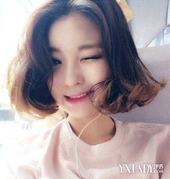 圆脸适合的短发图片 圆脸女生适合的发型 修颜短卷发发型图片