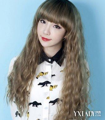 女生蛋卷头长发怎么设计齐刘海 齐刘海长发发型最美图片图片