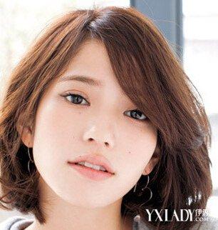 圆脸适合的短发造型 女神级短发发型设计图片