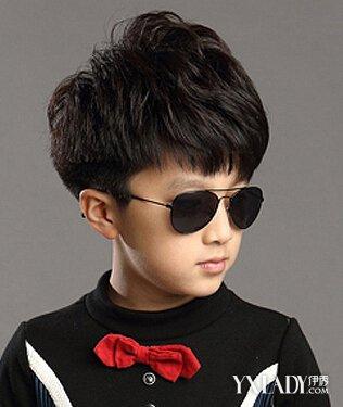 扮酷男童发型, 同样一款帅气的儿童烫发图片