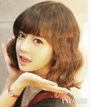 【图】长发型适合脸型齐刘海搭配完美修kisum发型图片