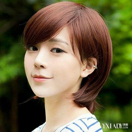 适合圆脸的短发发型推荐 适合圆脸学生的几款短发活力可爱图片