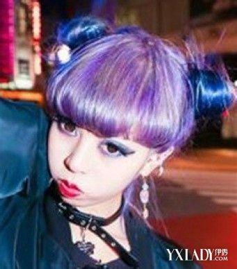 挑染紫色头发图片 _排行榜大全
