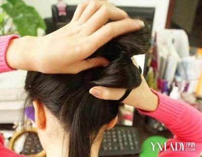 韩式包包头扎法 diy完美约会发型图片