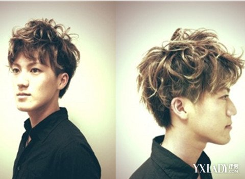 男士烫卷发发型图片 最流行男士图片
