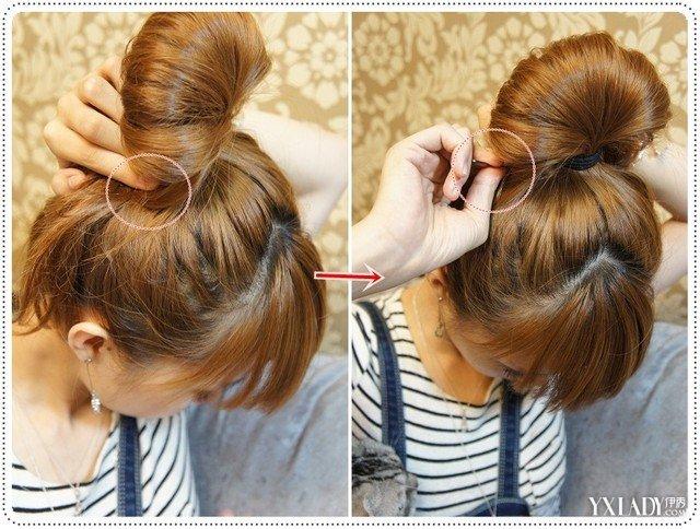 包包头图片 可爱俏皮的包包头发型扎发图片