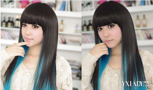 女生挑染头发发型 艳丽颜色助你出众图片
