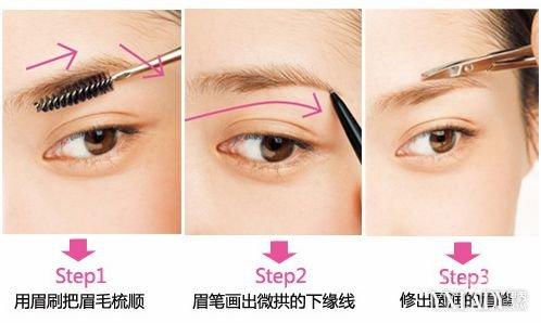 怎样修眉毛图解教程 精致的眉形会让你的面容更具立体感