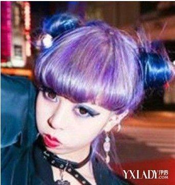 【图】紫色染发 明媚紫色染发图片 时尚美发发型推荐图片