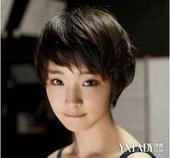 女孩短碎发发型图片展示图片