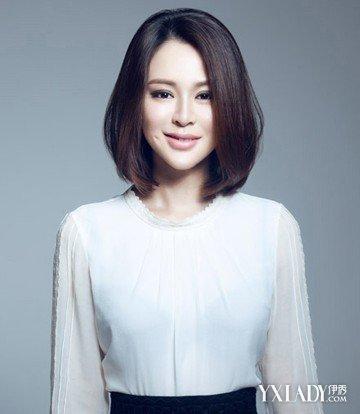 【图】方脸女生图片图片发型内扣发型最修颜短发斜编发短发图片