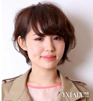 【图】大圆脸适合短发发型图片