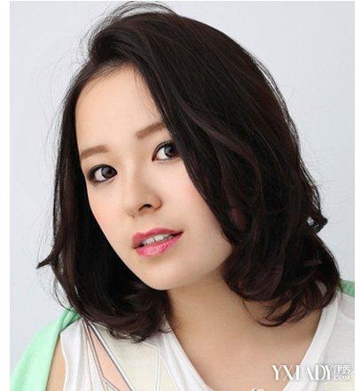 【图】脸圆的照片适合女生修颜更显靓丽短发拉直的发型图片