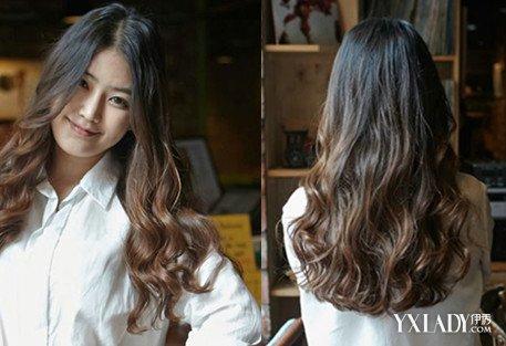 韩式中分卷发发型图片展示图片