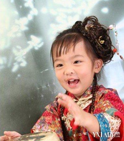【图】款式演出发型发型发型演出儿童舞蹈可2017年韩式中长发幼儿图片