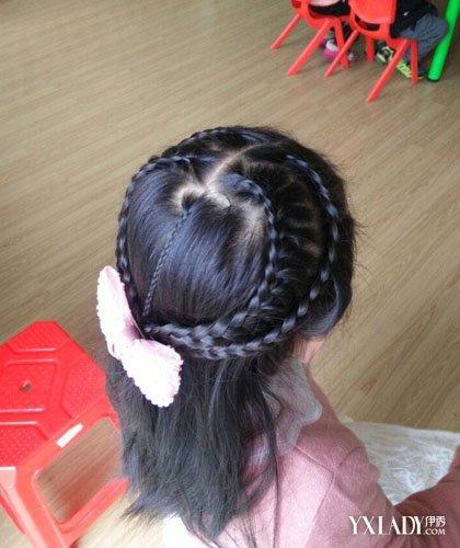 【图】儿童发型女孩编发图片 7款萌萌哒爱心打造甜心宝贝图片