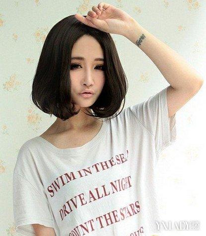 梨花头发型图片中短发 时尚清新尽显迷人魅力