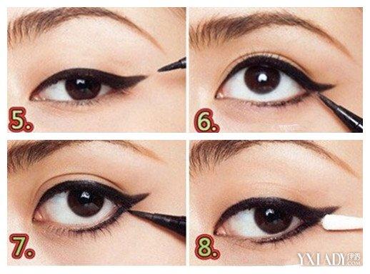 【图】崔雪莉眼线的画法步骤图