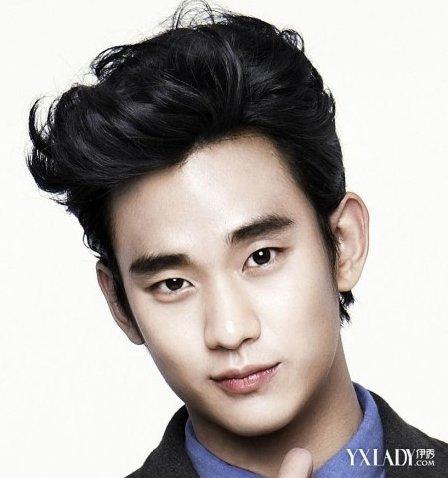 韩国男生三七分的发型,这款男生短碎发发型 男生发三七分发型刻痕,这图片