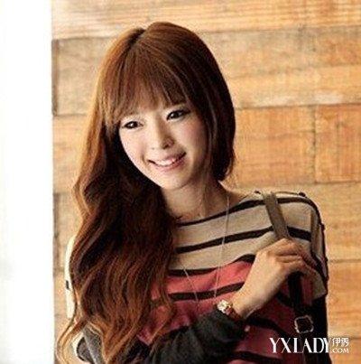 【图】小长脸女生适合的发型图片 霸气无刘海长发图片