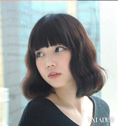 【图】短发烫发发型2015韩式小a短发中短v短发兰州发型设计男性图片