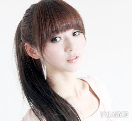 【图】女星女孩图解发型绑扎扎出不一样的马方法圆脸留齐刘海图片