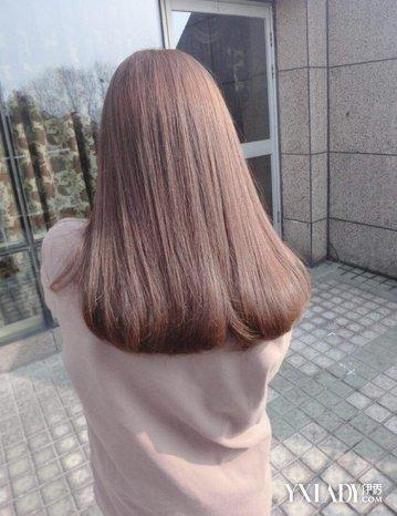 学生中长发内扣发型 女生佳瘦脸发型