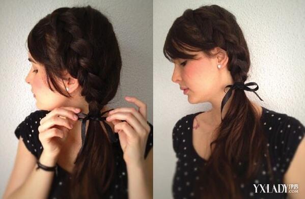 斜编发披一边发型怎么弄 温婉气质GET起来